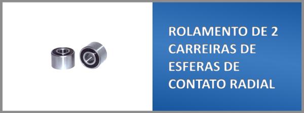 ROLAMENTO DE 2 CARREIRAS DE ESFERAS DE CONTATO RADIAL